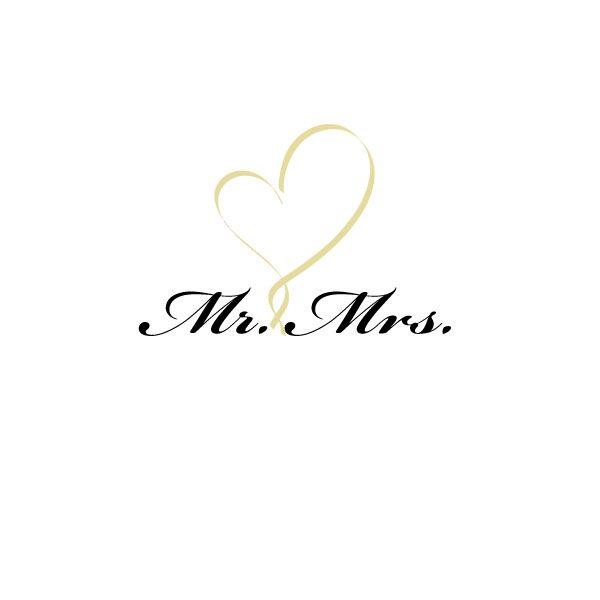 Mr. & Mrs. Heart Design