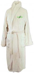 Microfiber Plush Beige Robe