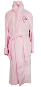 Microfiber Plush Pink Robe