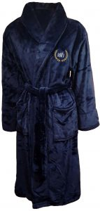 Microfiber Plush Navy Blue Robes