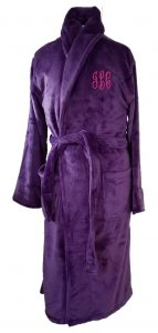 Microfiber Plush Purple Robe