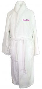 Microfiber Plush White Robe
